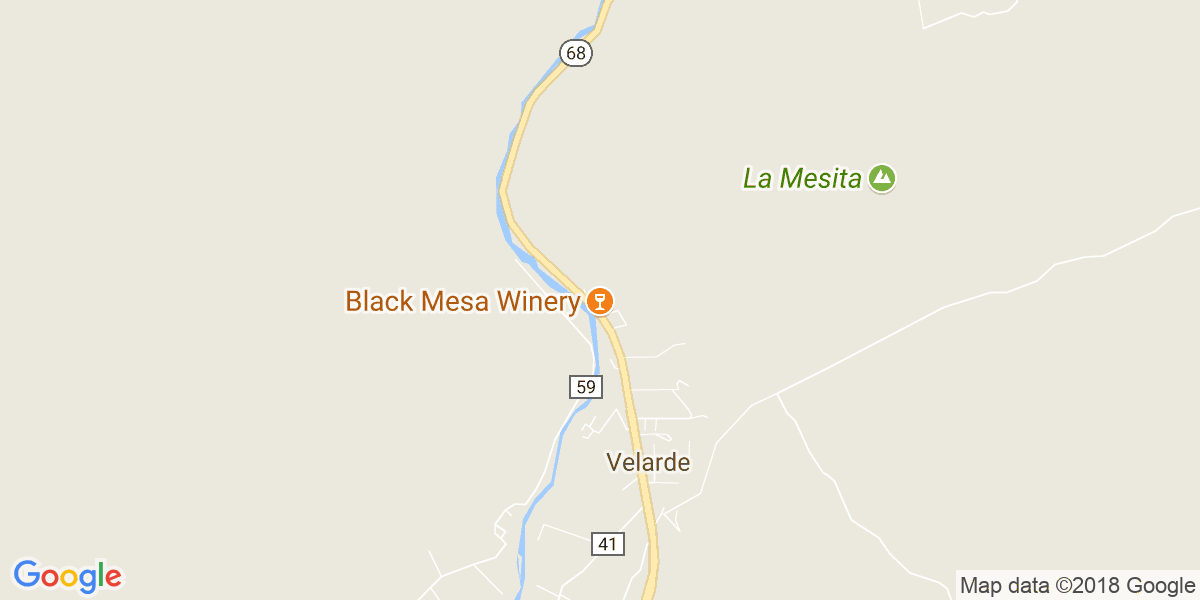 Google Map of black mesa winery